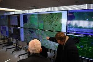 NUAIR members looking at radar